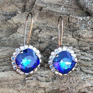 Handcrafted earrings with Swarovski crystal